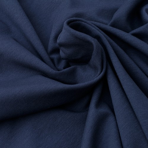 Bio Stretch-Jersey dunkelblau