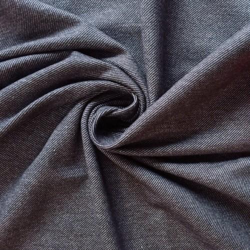 Bio Jersey Jeansoptik schwarz meliert