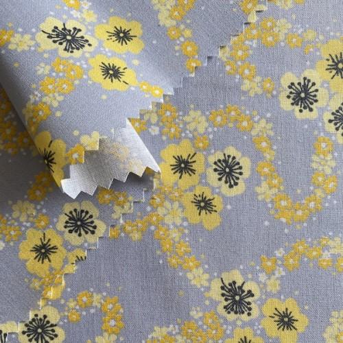 Bio-Stoff (kbA) Blumen gelb
