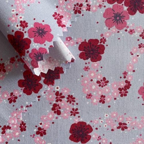 Bio-Stoff (kbA) Blumen pink