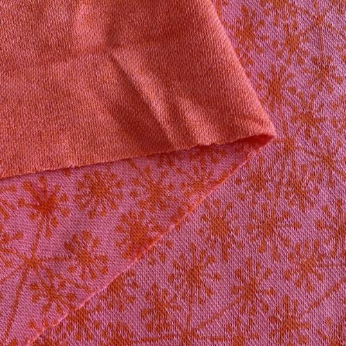Bio Jacquard-Jersey Pusteblumen rosa