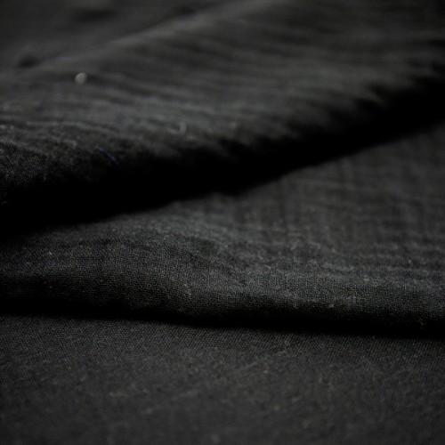 Bio Musselin / Doppel-Mull schwarz