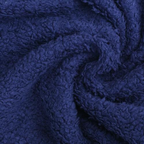 Bio Teddy-Plüsch kobaltblau