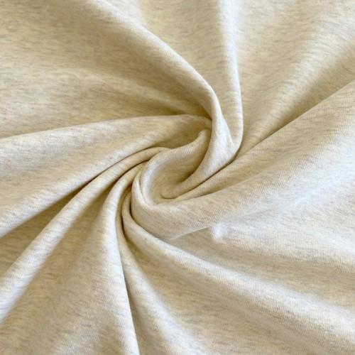 Bio Stretch-Jersey beige meliert
