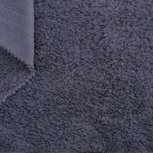 Bio Teddy-Plüsch blau-grau