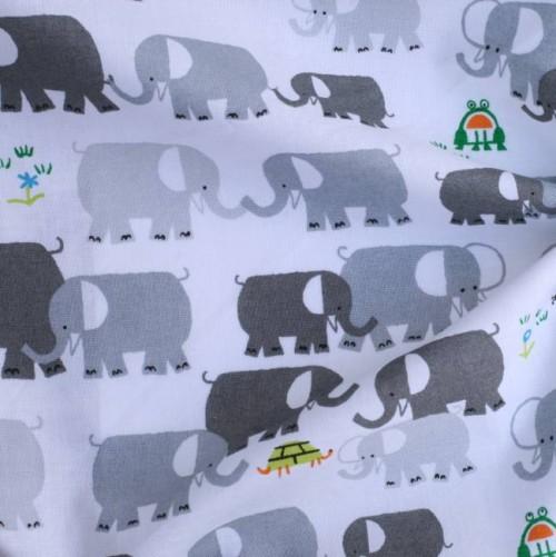 Bio Popeline Elefanten