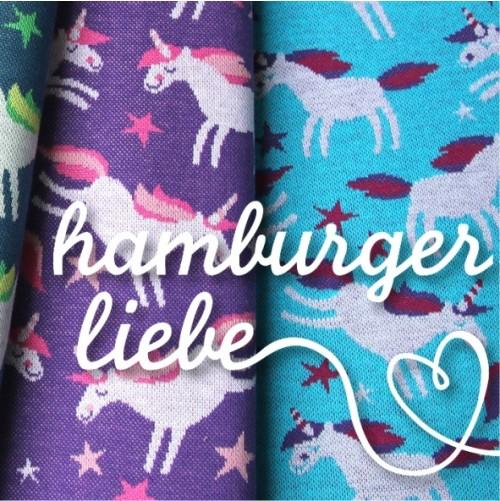 Hamburger Liebe - Limited Edition - Bio Jacquard Einhorn lila