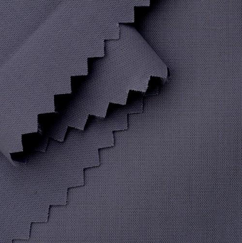Bio Popeline blau-grau