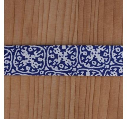 Bio Schrägband Ornament dunkelblau