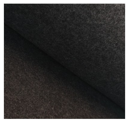 Bio Merino-Wollfleece - dunkelgrau meliert